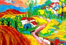Expressionistisch schilderij Alozaina Andalucia kunstenaar Tibo van de Zand zoon van Jits Bakker