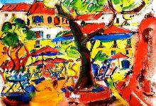 Expressionistisch schilderij Andalucia kunstenaar Tibo van de Zand zoon van Jits Bakker
