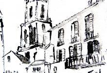 Kunstwerk Málaga Oost Indische inkt op papier kunstenaar Tibo van de Zand zoon van Jits Bakker