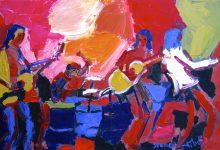 Muziek schilderij band