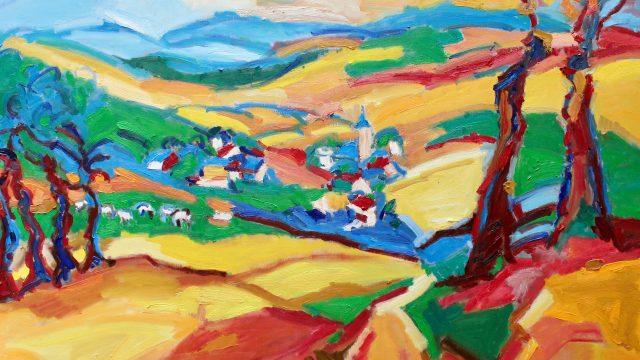 Fanzel, Ardennen, België, Schilderij, Olieverf