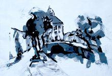 Nieuwpoort, schilderij, arcylverf