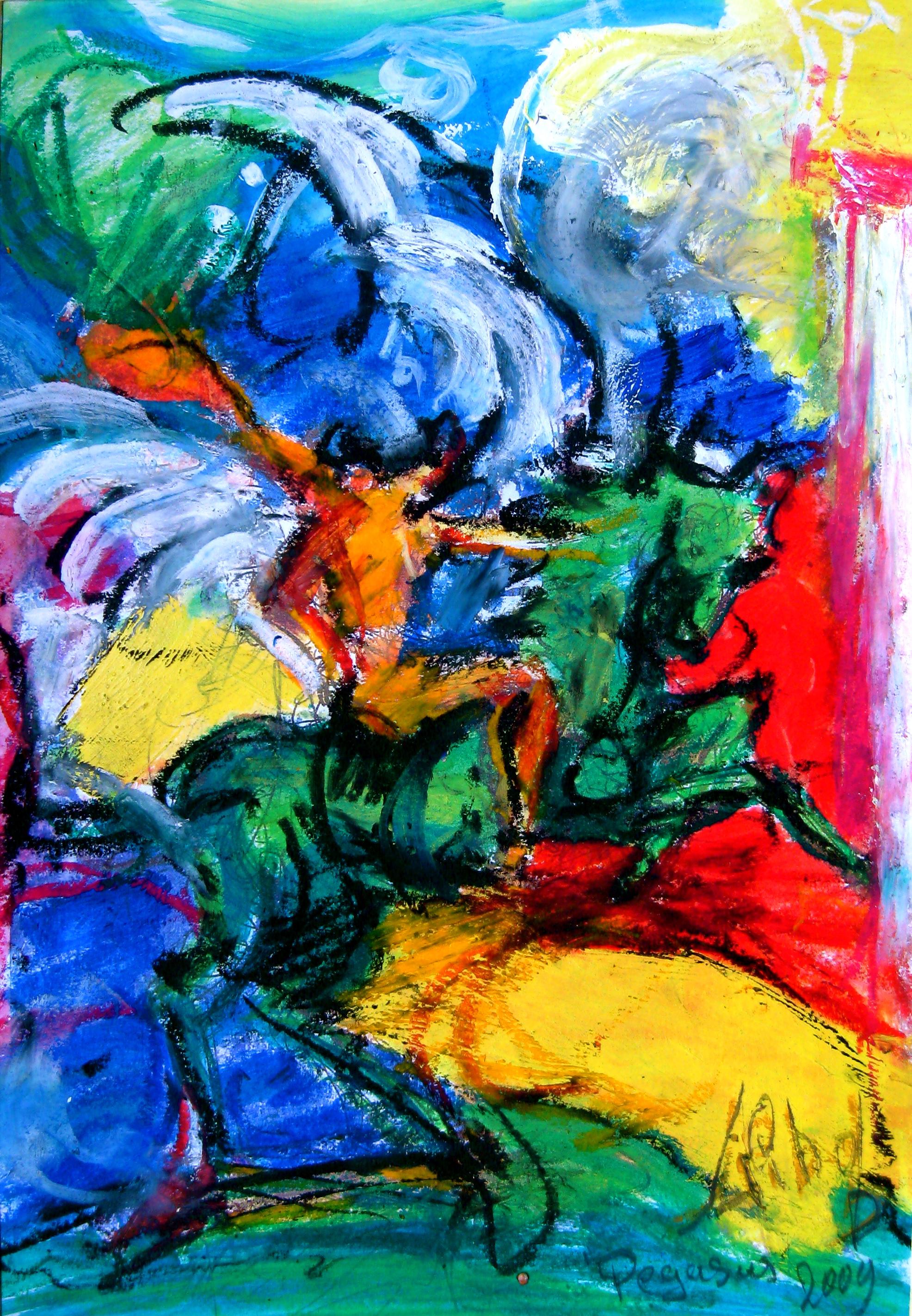 Pegasus Acrylverf op linnen 80 x 100 cm