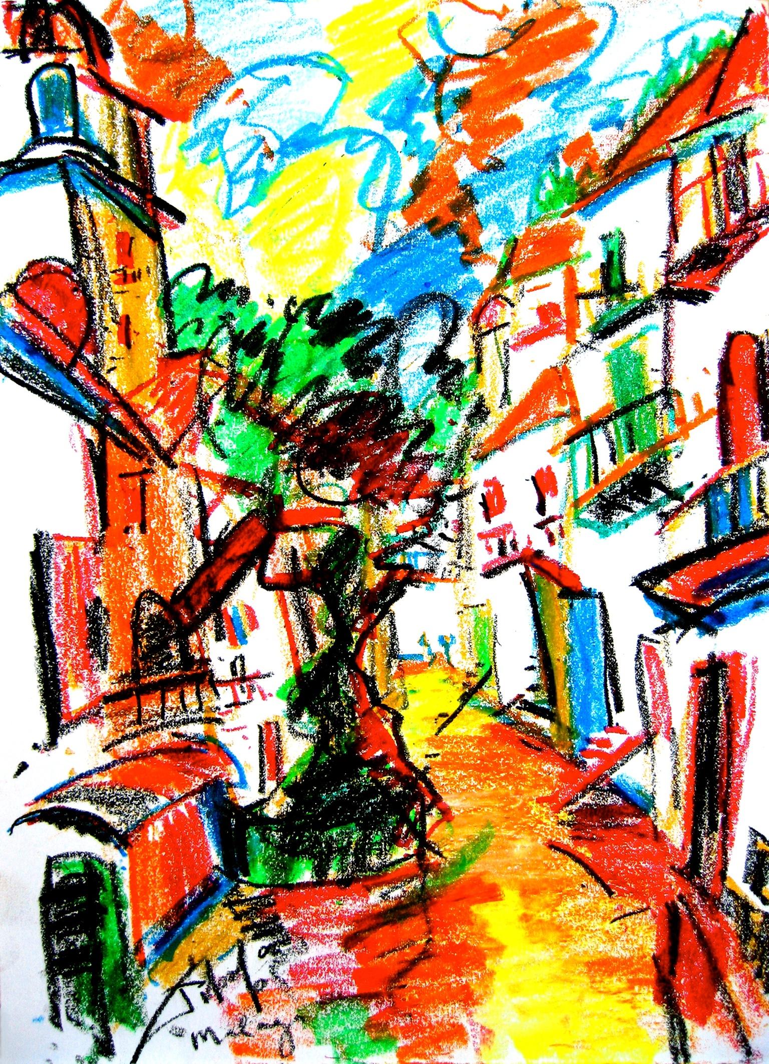 Málaga Acrylverf op linnen 60 x 80 cm